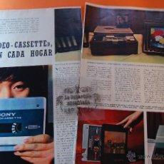 Radios antiguas: ARTICULO REVISTA AÑO 1970 - LA VIDEO-CASETTE MAGNIFICO REPORTAJE + PUBLICIDAD EPOCA - 6 PAG.. Lote 44819651