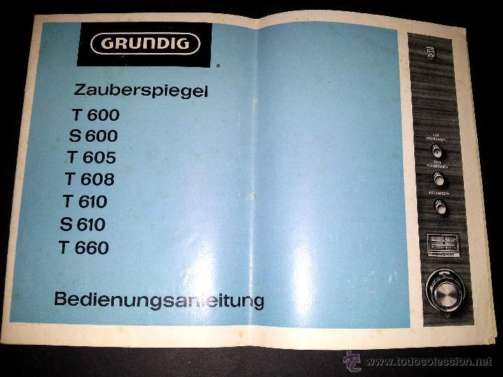 manual de instrucciones televisor grundig t600 comprar cat logos rh todocoleccion net Vintage Grundig TV Grundig TV VHS