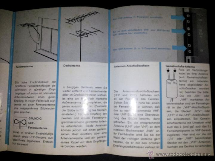 manual de instrucciones televisor grundig t600 comprar cat logos rh todocoleccion net Vintage Grundig TV 1970 Grundig TV