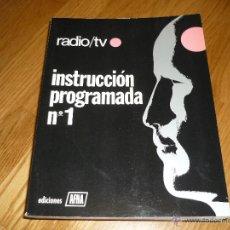 Radios antiguas: CUADERNOS DE INSTRUCCION PROGRAMADA DE APHA 12 NUMEROS MUY BUEN ESTADO MAS REGALO CIRCUITOS TV. Lote 45263766