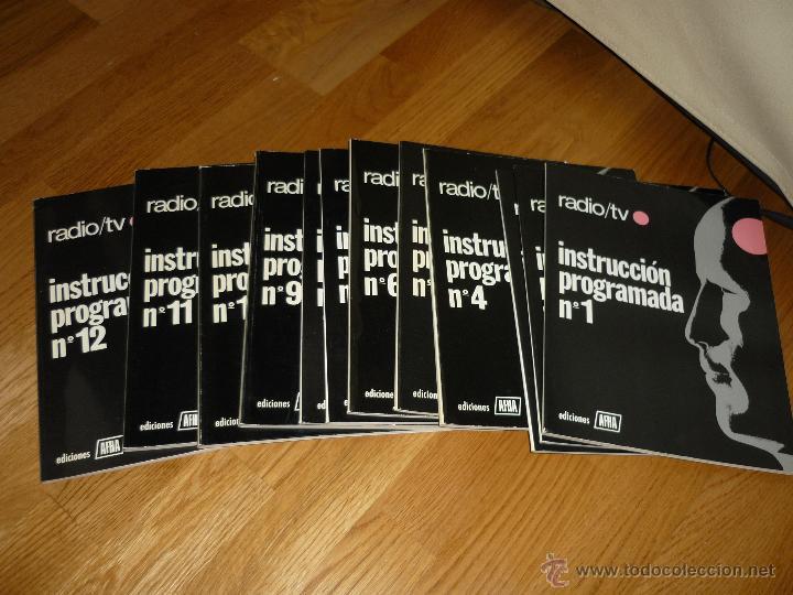 Radios antiguas: CUADERNOS DE INSTRUCCION PROGRAMADA DE APHA 12 NUMEROS MUY BUEN ESTADO MAS REGALO CIRCUITOS TV - Foto 2 - 45263766