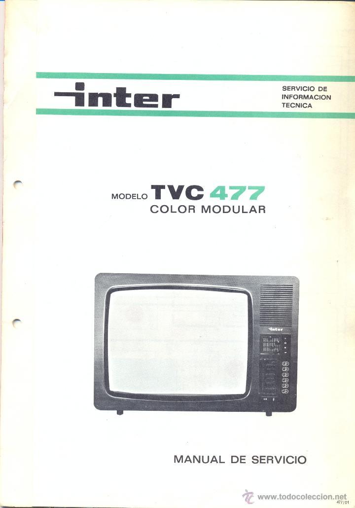 MANUAL DE SERVICIO INTER - MODELO TVC 477 COLOR MODULAR (Radios, Gramófonos, Grabadoras y Otros - Catálogos, Publicidad y Libros de Radio)