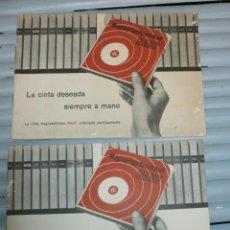 Radios antiguas: BASF LISTADO DE TRACKS PARA MAGNETOFONOS DE BOBINAS. Lote 45767442