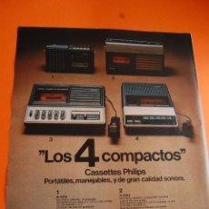 Radios antiguas: PUBLICIDAD REVISTA 1975 - CASSETTES PHILIPS . Lote 45891764