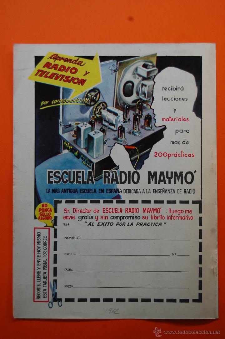 PUBLICIDAD REVISTA 1962 - ESCUELA DE RADIO MAYMO (Radios, Gramófonos, Grabadoras y Otros - Catálogos, Publicidad y Libros de Radio)