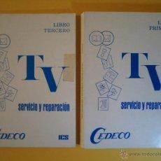 Radios antiguas: SERVICIO Y REPARACIÓN DE TV. LIBROS PRIMERO Y TERCERO. PREPARADO POR H. BELT, FOREST.. Lote 45998892
