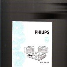 Radios antiguas: INSTRUCCIONES PHILIPS AG 5857 ELECTROFONO . Lote 46965641