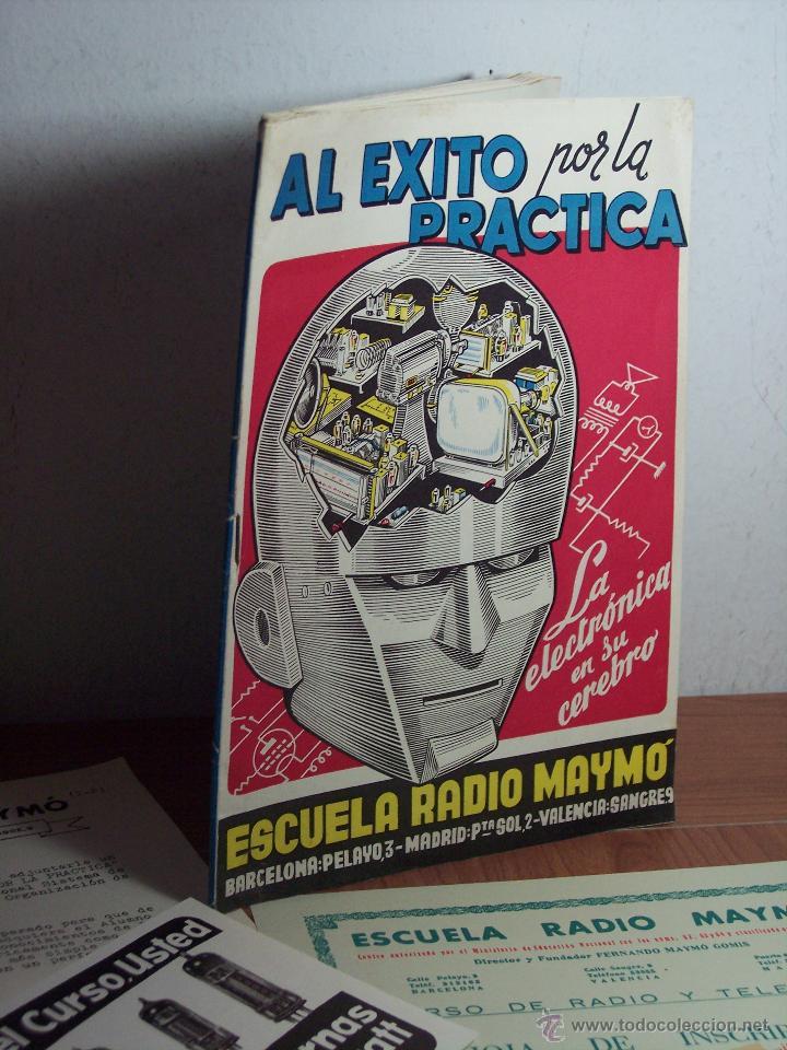 AL EXITO POR LA PRACTICA (CATÁLOGO PUBLICIDAD ESCUELA DE RADIO MAYMÓ) AÑOS 50 (Radios, Gramófonos, Grabadoras y Otros - Catálogos, Publicidad y Libros de Radio)