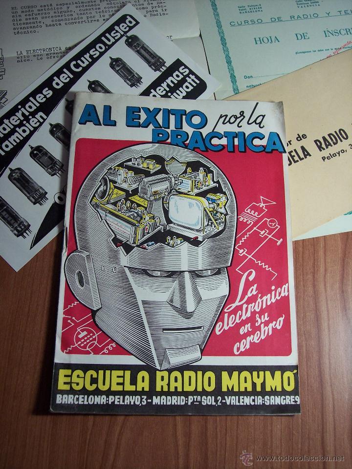 Radios antiguas: AL EXITO POR LA PRACTICA (CATÁLOGO PUBLICIDAD ESCUELA DE RADIO MAYMÓ) AÑOS 50 - Foto 2 - 47163599