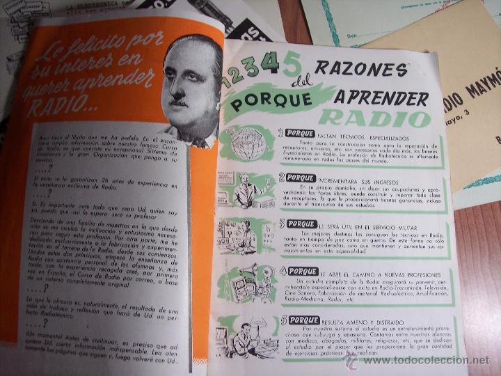 Radios antiguas: AL EXITO POR LA PRACTICA (CATÁLOGO PUBLICIDAD ESCUELA DE RADIO MAYMÓ) AÑOS 50 - Foto 3 - 47163599