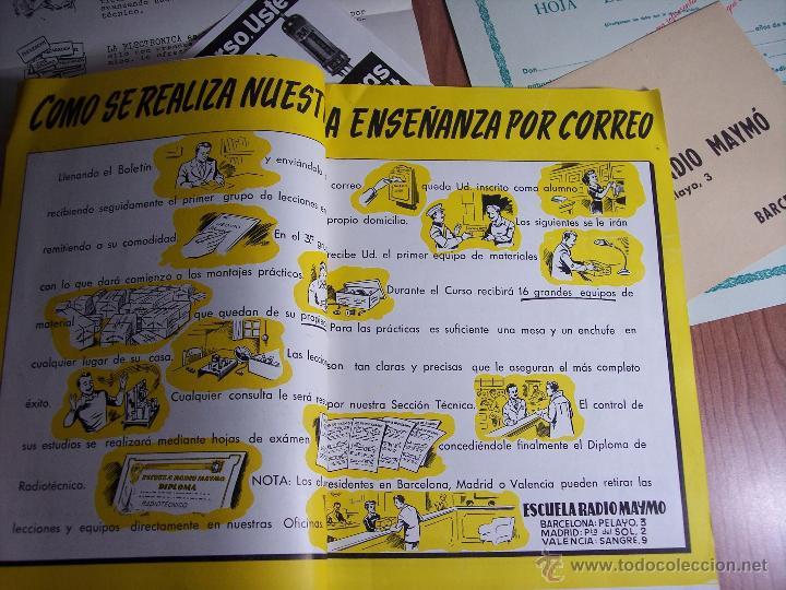 Radios antiguas: AL EXITO POR LA PRACTICA (CATÁLOGO PUBLICIDAD ESCUELA DE RADIO MAYMÓ) AÑOS 50 - Foto 4 - 47163599