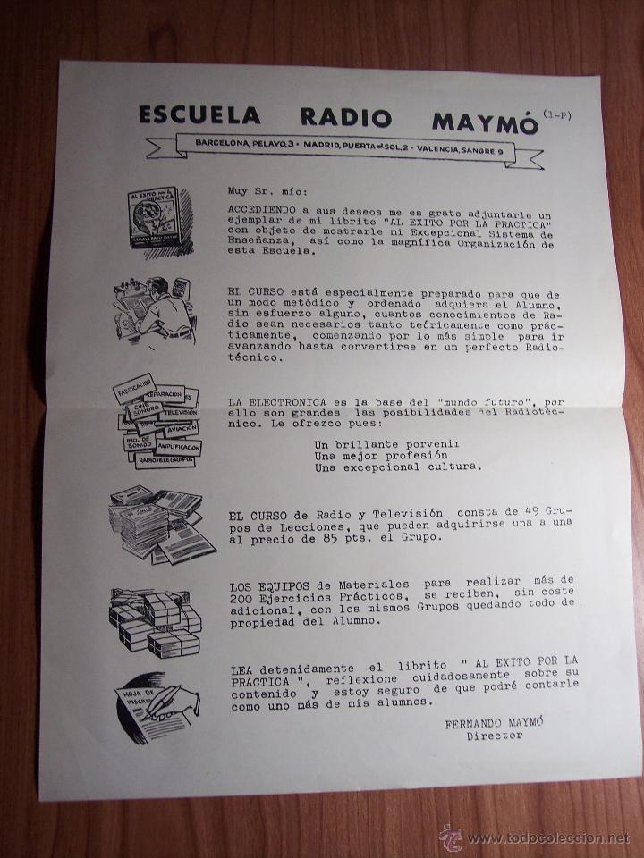 Radios antiguas: AL EXITO POR LA PRACTICA (CATÁLOGO PUBLICIDAD ESCUELA DE RADIO MAYMÓ) AÑOS 50 - Foto 13 - 47163599