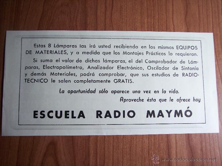 Radios antiguas: AL EXITO POR LA PRACTICA (CATÁLOGO PUBLICIDAD ESCUELA DE RADIO MAYMÓ) AÑOS 50 - Foto 15 - 47163599
