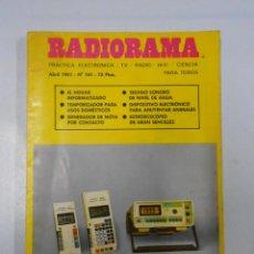 Radios antiguas: REVISTA RADIORAMA N° 161 - TDK7. Lote 46301964