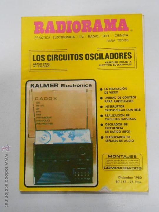 REVISTA RADIORAMA N° 157 - TDK7 (Radios, Gramófonos, Grabadoras y Otros - Catálogos, Publicidad y Libros de Radio)