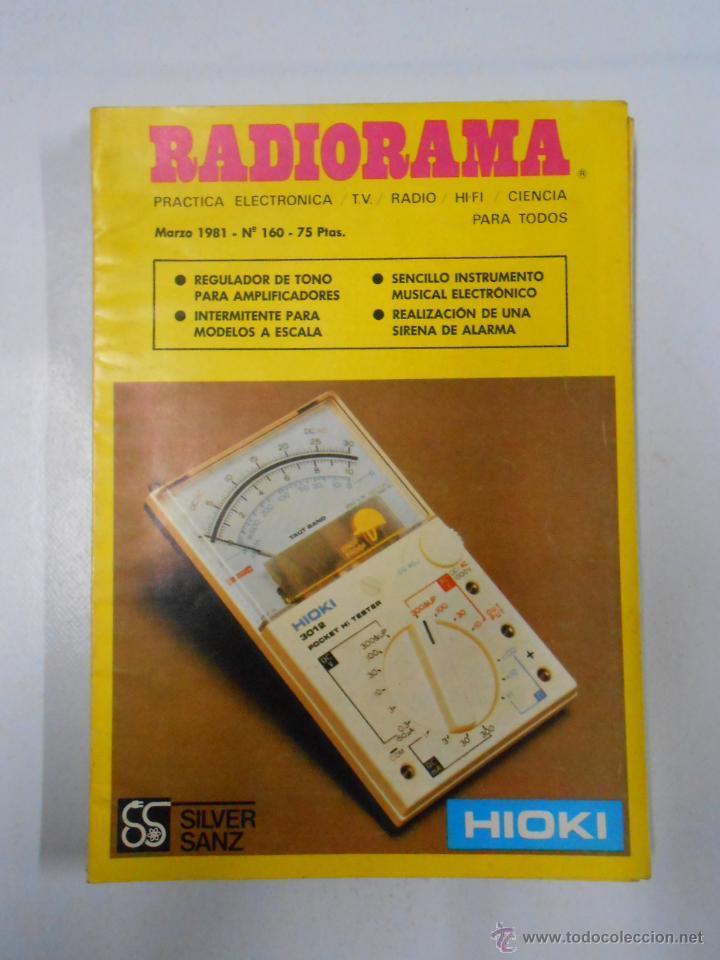 REVISTA RADIORAMA N° 160- TDK7 (Radios, Gramófonos, Grabadoras y Otros - Catálogos, Publicidad y Libros de Radio)