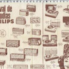Radios antiguas: PUBLICIDAD PHILIPS CARNAVAL DE MELODIAS-1966.. Lote 47419269