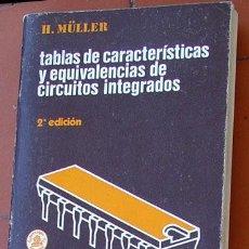 Radios antiguas: TABLAS DE CARACTERISTICAS DE CIRCUITOS INTEGRADOS. Lote 194264203