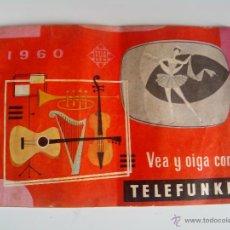 Radios antiguas: CATALOGO VEA Y OIGA CON TELEFUNKEN 1960. Lote 47693642