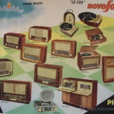 Radios antiguas - DIADEMA MUSICAL LA ERA NOVOSONIC PHILIPS RADIO 1956.64X88 - 48227025