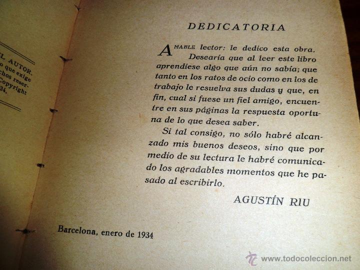 Radios antiguas: RADIO RECEPCIÓN MODERNA. POR AGUSTÍN RUI. (1934) LIBERÍA SINTES. BARCELONA. (ver índice) - Foto 5 - 48575315