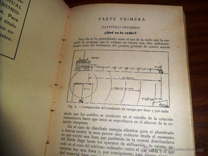 Radios antiguas: RADIO RECEPCIÓN MODERNA. POR AGUSTÍN RUI. (1934) LIBERÍA SINTES. BARCELONA. (ver índice) - Foto 6 - 48575315