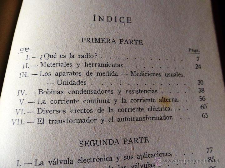 Radios antiguas: RADIO RECEPCIÓN MODERNA. POR AGUSTÍN RUI. (1934) LIBERÍA SINTES. BARCELONA. (ver índice) - Foto 7 - 48575315