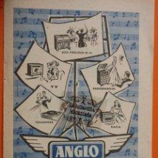 Radios antiguas: PUBLICIDAD 1957 - COLECCION ELECTRONICA - ANGLO GAMA. Lote 49145164