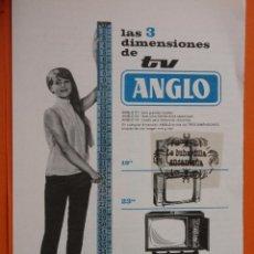 Radios antiguas: PON PRECIO SI OFERTA RAZONABLE ES TUYO////PUBLICIDAD 1964 - COLECCION ELECTRONICA - ANGLO TELEVISION. Lote 49145175