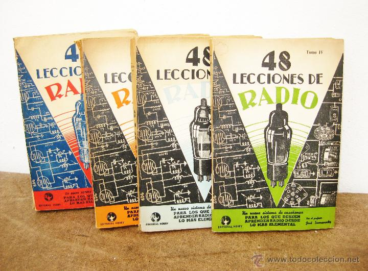 EXCEPCIONAL LOTE LIBROS ANTIGUOS RADIOS 48 LECCIONES BOBBY BUENOS AIRES 1943, EDICION 1962 (Radios, Gramófonos, Grabadoras y Otros - Catálogos, Publicidad y Libros de Radio)