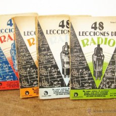 Radios antiguas: EXCEPCIONAL LOTE LIBROS ANTIGUOS RADIOS 48 LECCIONES BOBBY BUENOS AIRES 1943, EDICION 1962. Lote 49197376