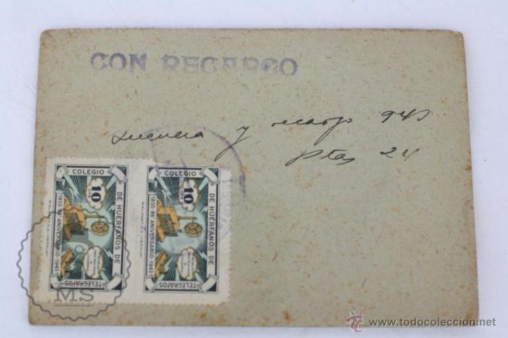 Radios antiguas: Antigua Licencia para Uso de Aparato Radio-Receptor, Año 1943 - Medidas 12 x 8,5 Cm - Foto 2 - 49535836