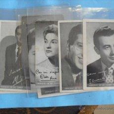 Radios antiguas: 9 FOTO CROMOS, LOCUTORES DE RADIO, OBSEQUI DE LA UNION DE RADIOYENTES. Lote 49613411