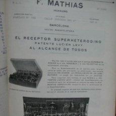 Radios antiguas: CATALOGO PUBLICITARIO DE APARATOS CHAUVIN & ARNOUX - MEDICIONES ELECTRICAS DE RADIO. Lote 49792519