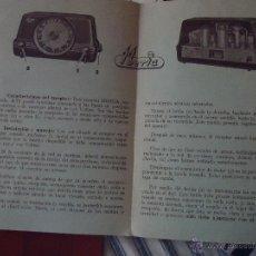 Radios antiguas: RADIO IBERIA, MANUAL INSTRUCCIONES MODELOS A 71 G Y A 71 B UNVERSAL . Lote 49949436