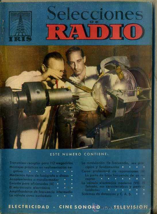 SELECCIONES DE RADIO IRIS Nº 31 (Radios, Gramófonos, Grabadoras y Otros - Catálogos, Publicidad y Libros de Radio)