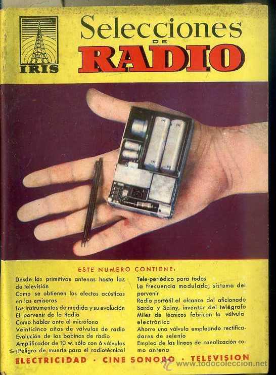 SELECCIONES DE RADIO IRIS Nº 5 (Radios, Gramófonos, Grabadoras y Otros - Catálogos, Publicidad y Libros de Radio)