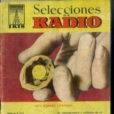 Radios antiguas: SELECCIONES DE RADIO IRIS Nº 1. Lote 179220385