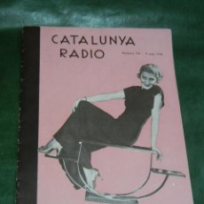 Radios antiguas: REVISTA CATALUNYA RADIO - 9 JUNY 1934 - N.110. Lote 50191596