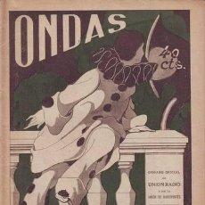 Radios antiguas: ONDAS REVISTA RADIO. Nº 35 1926. Lote 50356885