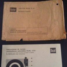 Radios antiguas - lote manual de instrucciones de manejo y sobre original bettor dual 1214 cambiadiscos automatico - 50475461