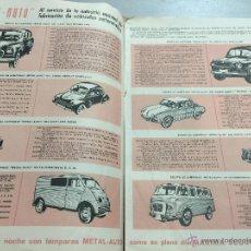 Radios antiguas: ANTIGUA REVISTA PROMOCIONAL METAL CONTACT. CONSEJOS ILUMINACIÓN, BOMBILLAS VEHICULOS. AÑO 1958. RARO. Lote 50479685