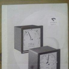 Radios antiguas: CATÁLOGO DE FASÍMETROS ELECTRODINÁMICOS / BÍPTICO / GOSSEN / 6 ABRIL 1962. Lote 50760113