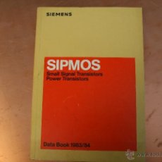 Radios antiguas: SIPMOS DATA BOOCK 1983-84. Lote 51163972