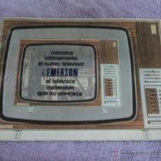 Radios antiguas: CATALOGO ANTIGUO TELEVISION TV EMERSON PUBLICIDAD ANTIGUA. Lote 51632859