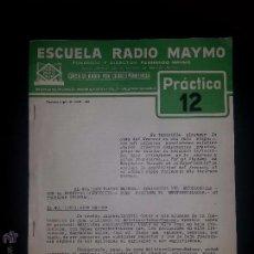 Radios antiguas: PRACTICA 12- CURSO DE RADIO - MAYMO 1963. Lote 51745534