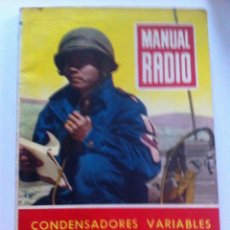 Radios antiguas: MANUAL RADIO (CONDENSADORES VARIABLES)18. Lote 52420679