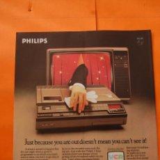 Radios antiguas: PUBLICIDAD 1978 - COLECCION ELECTRONICA - PHILIPS VIDEO Y TELEVISION - EN INGLES . Lote 52488348