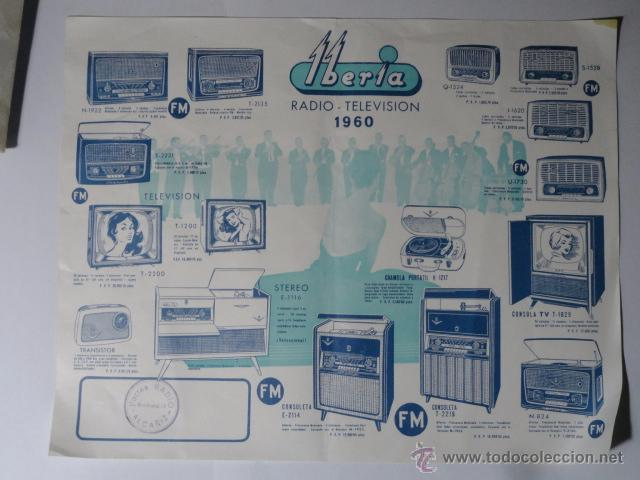 FOLLETO CATALOGO RADIO IBERIA RADIO TELEVISOR 1960 (Radios, Gramófonos, Grabadoras y Otros - Catálogos, Publicidad y Libros de Radio)