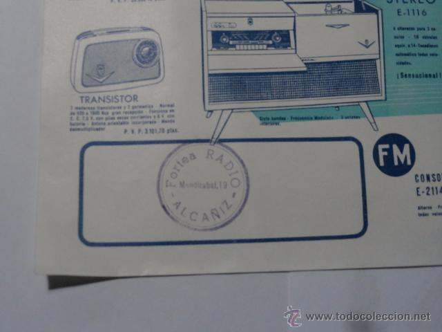 Radios antiguas: FOLLETO CATALOGO RADIO IBERIA RADIO TELEVISOR 1960 - Foto 2 - 52580343